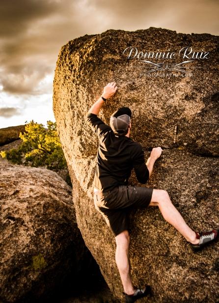 Sandia Foothills rock climbing