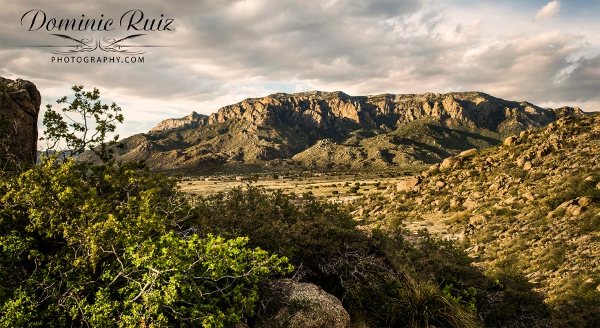 Sandia Mountains and foothills